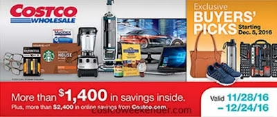 Current Costco Coupon December 2016