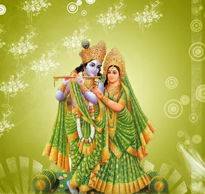 krishna-with-green-background