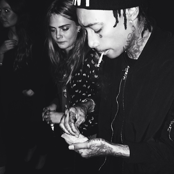 Cara Delevingne and Wiz Khalifa