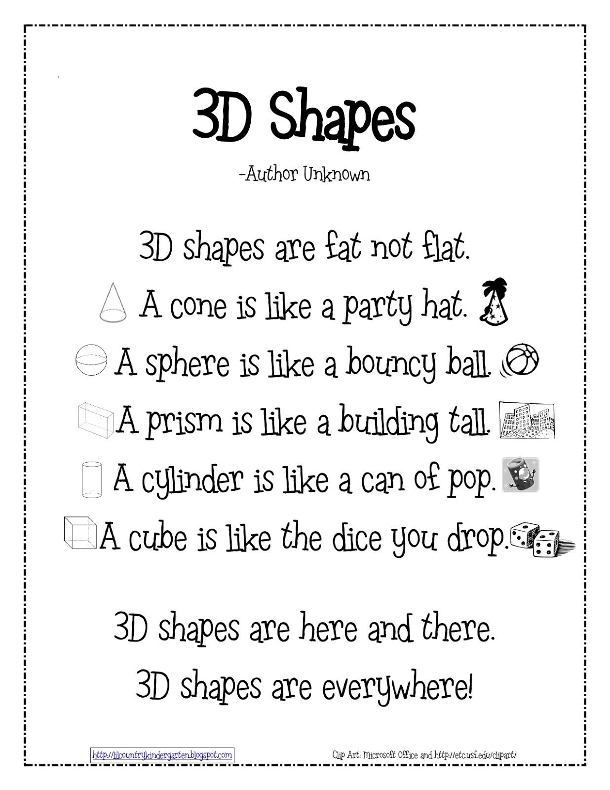 Kinder Learning Garden Teaching 3d Shapes