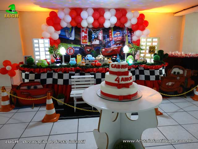 Decoração de festa Carros (Disney) - Aniversário infantil