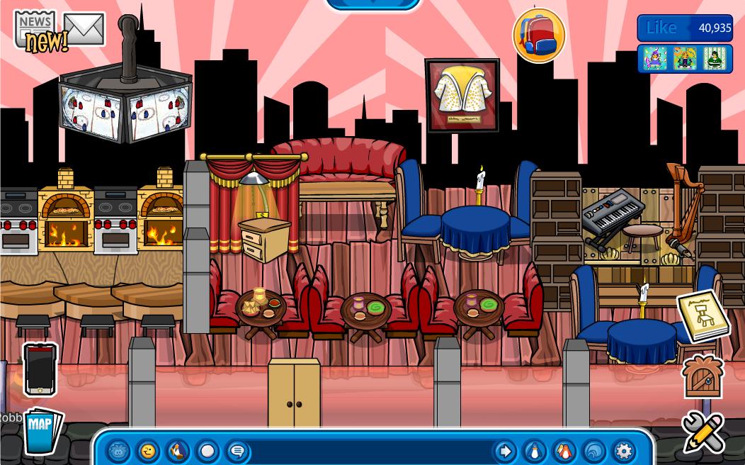 Club Penguin Igloo Ideas: Fancy Pizza Parlor