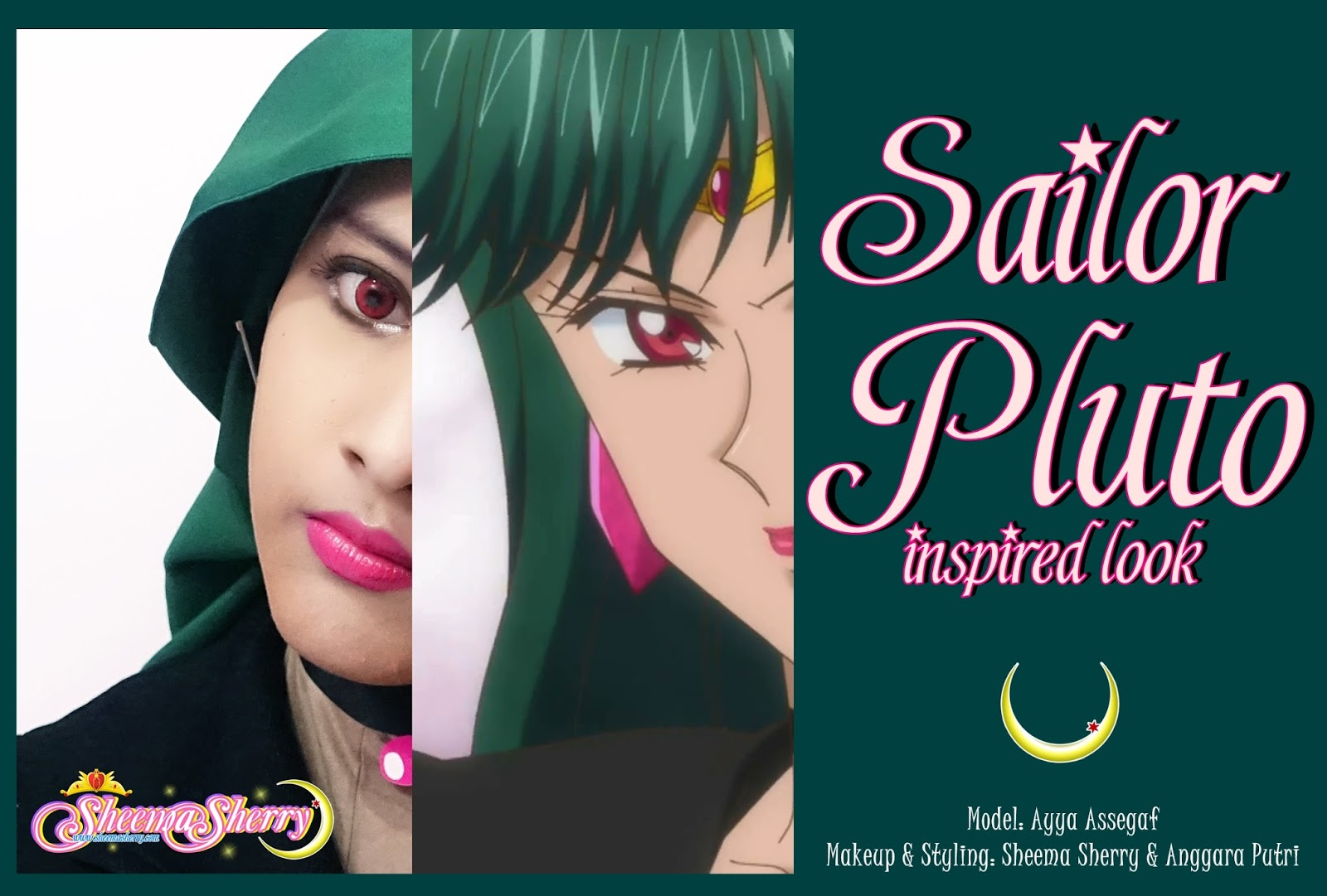 SAILOR PLUTO SAILOR MOON INSPIRED MAKEUP LOOK COSPLAY