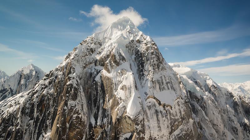 2nd Mountain Peaks. Snowy Landscape from Alaska HD