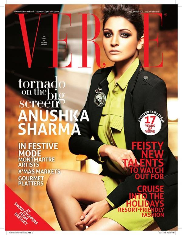 Anushka Sharma Magazine December 2012