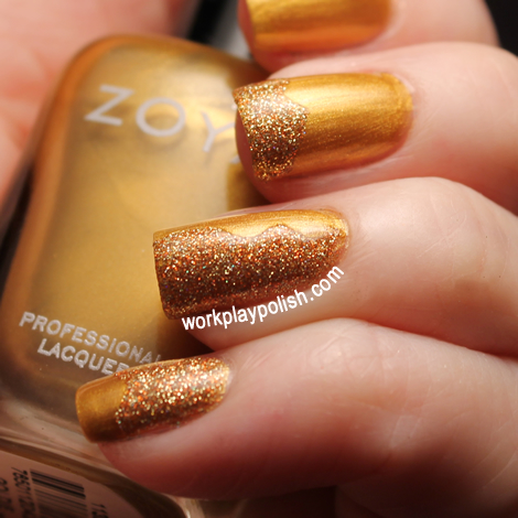 Zoya Goldie and China Glaze I Herd That