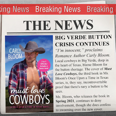 Cover Reveal: Must Love Cowboys by Carly Bloom