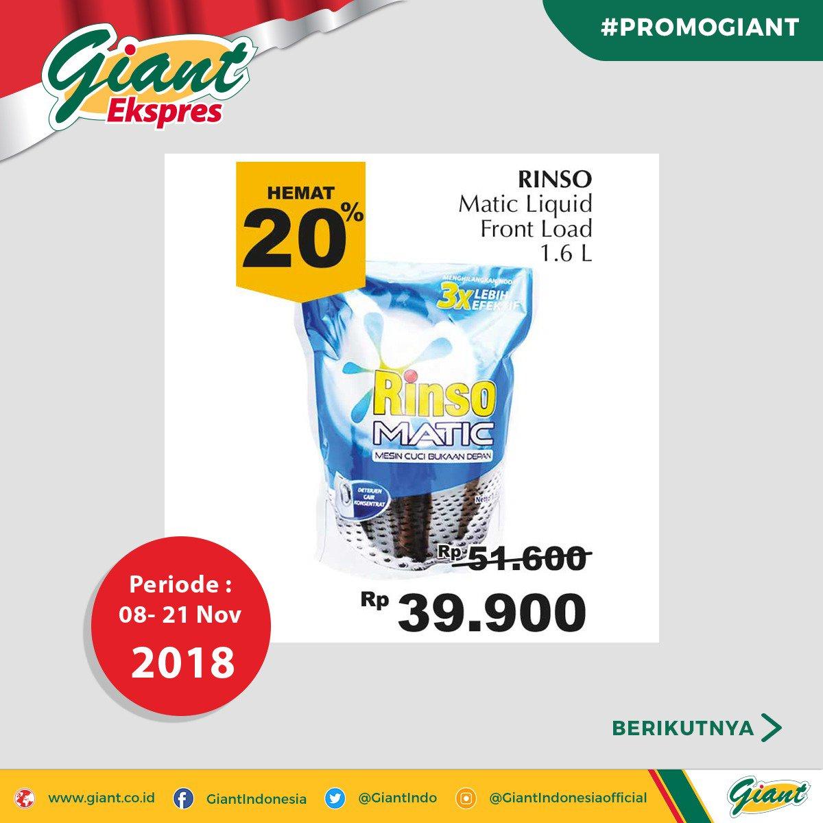 Giant - Promo Giant Periode 08 - 21 Nov 2018