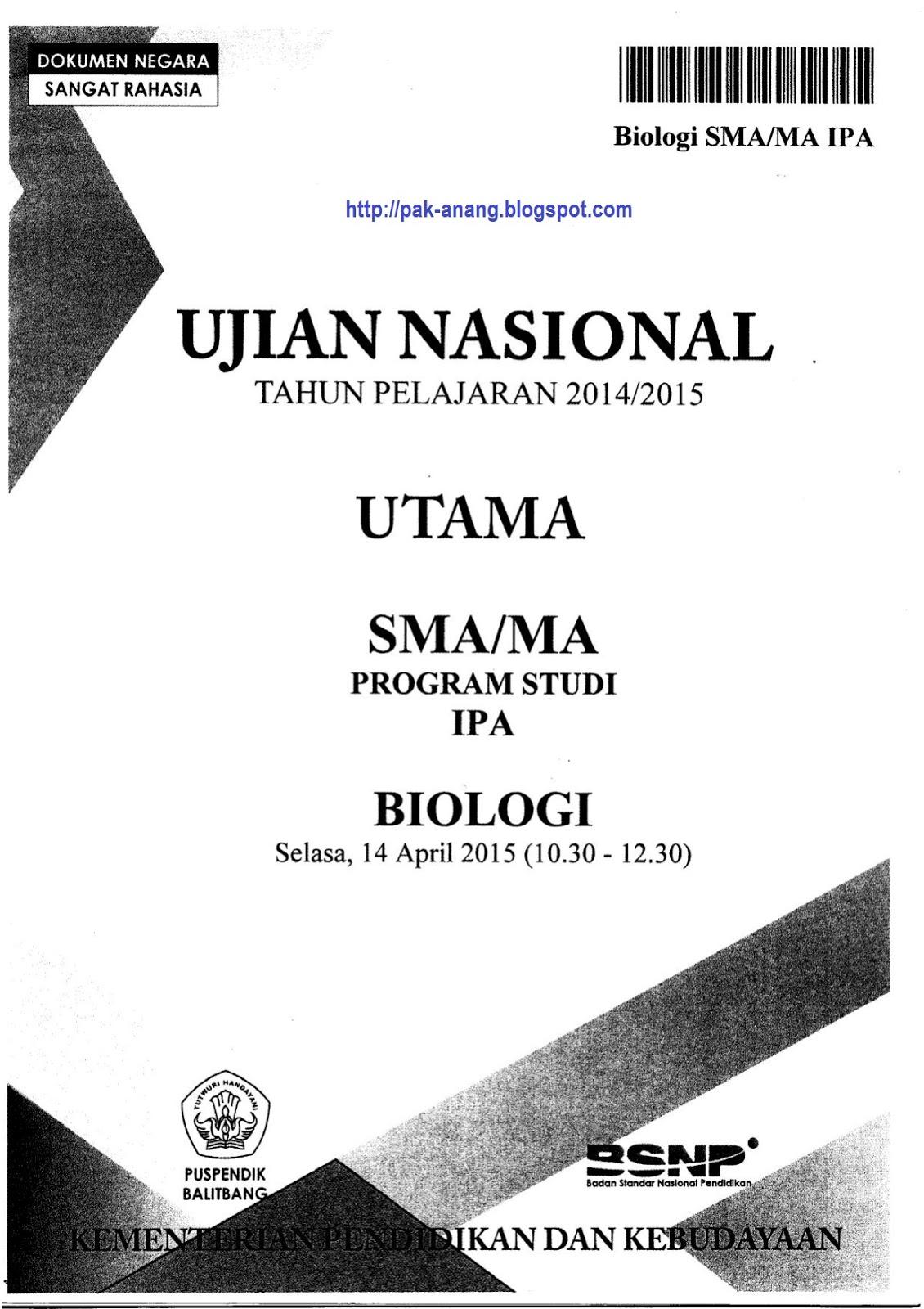 Soal Un Biologi : biologi, Berbagi, Belajar:, Naskah, Biologi, Paket