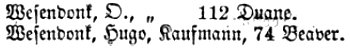 Adresse im Jahresbericht der Deutschen Gesellschaft, Januar 1860