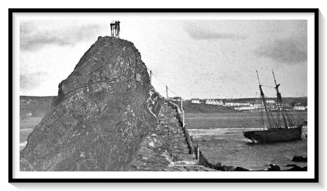 1890s photo of Chapel Rock, Bude