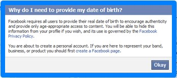 facebook sign up birthday