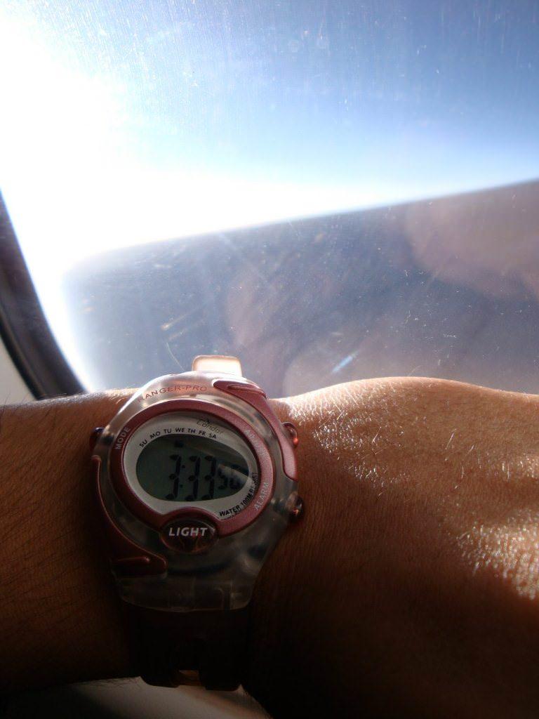 Corrida e Viagem: problemas com fuso horário