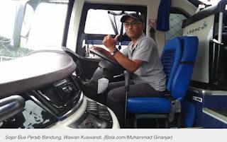 Sopir Bus Persib Senang Tak Ada Lagi Teriakan Persib Butut dari Bobotoh