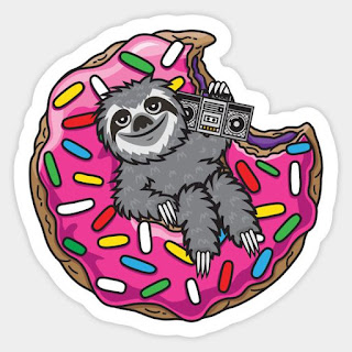 https://www.teepublic.com/sticker/1965881-sloth-donut