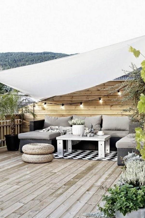 4 toldos originales (y low cost) para tu terraza o balcón. Vela de sombreo