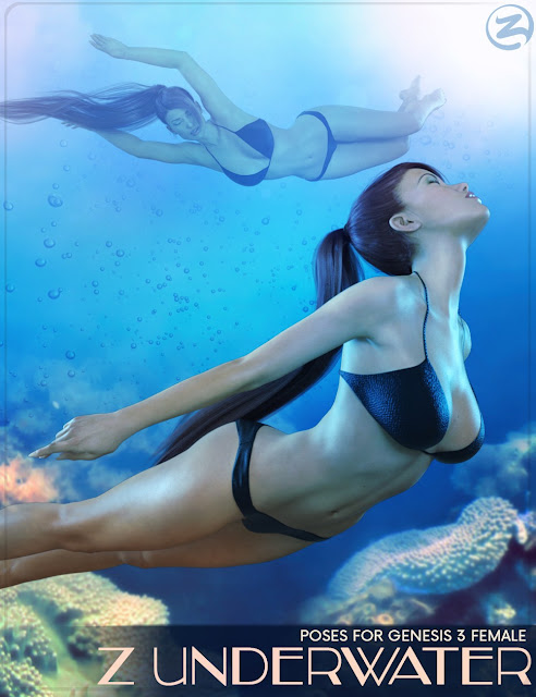 Z Underwater - Swimming Poses for Genesis 3 Female
