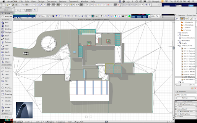 ArchiCAD 3D document of a captured 3D window enhanced with Adobe