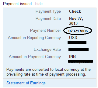Google AdSense Payment Number