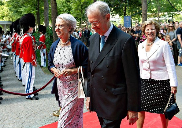 Queen Margrethe of Denmark, Princess Benedikte of Denmark and Queen Anne-Marie of Greece