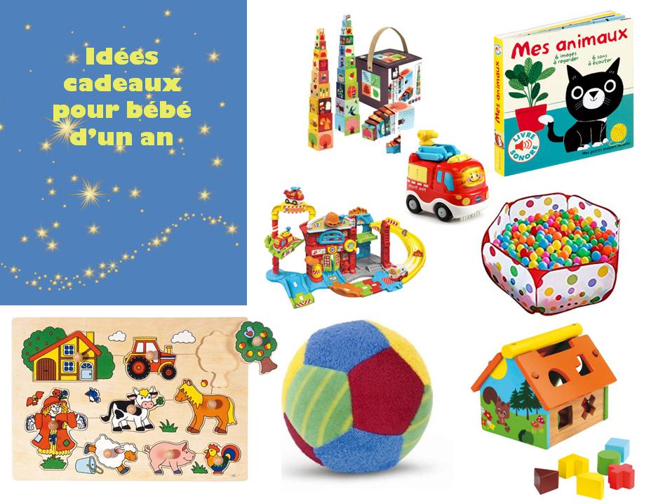 idées cadeaux de noel et d'anniversaire pour bébé d'un an