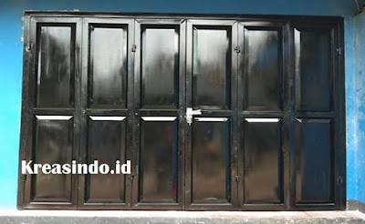 Daftar Harga Pintu Lipat Besi Cat Semprot Tanpa Rel