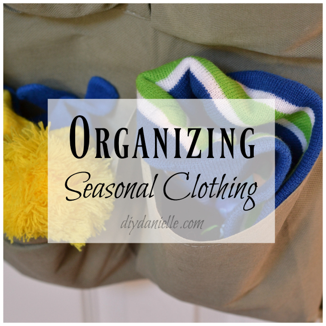 How to organize seasonal clothes.