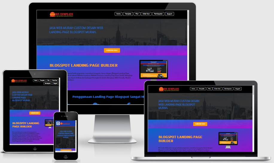 Landing Page Idntemplate Responsive