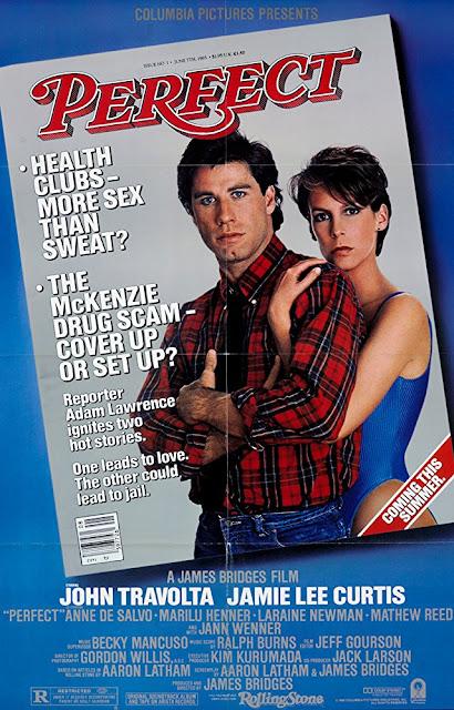 Perfect 1985 movie poster John Travolta Jamie Lee Curtis