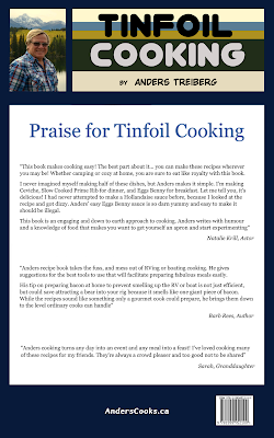 Back Cover of my Book Tinfoil Cooking