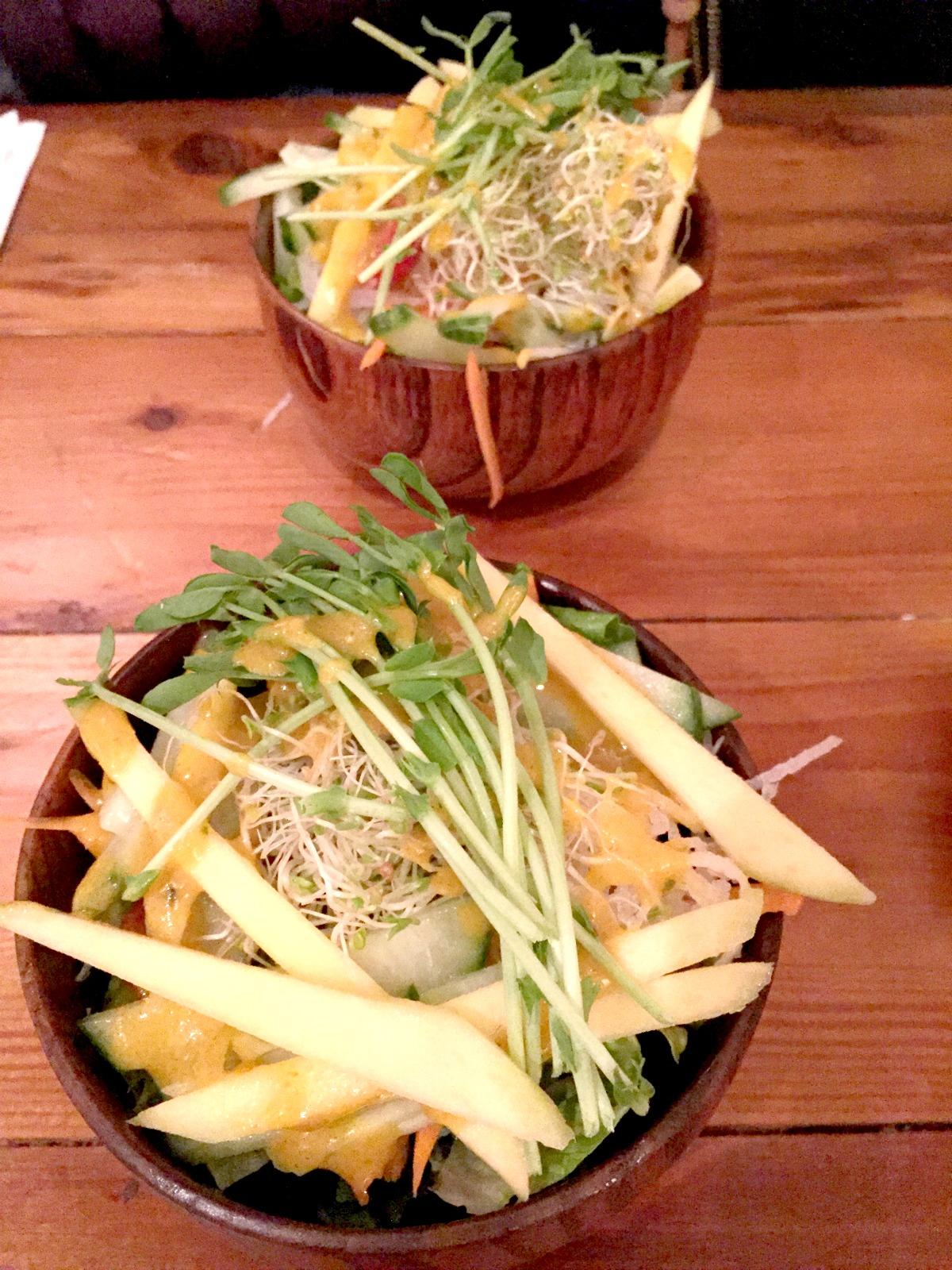 Sushi Momo-taster's menu-mango salad