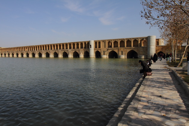 Riverside action at Isfahan, Iran