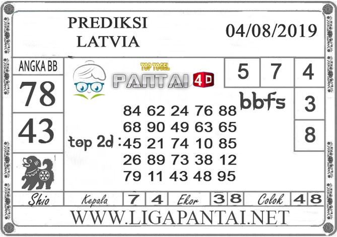 "PREDIKSI TOGEL ""LATVIA"" PANTAI4D 04 AGUSTUS 2019"