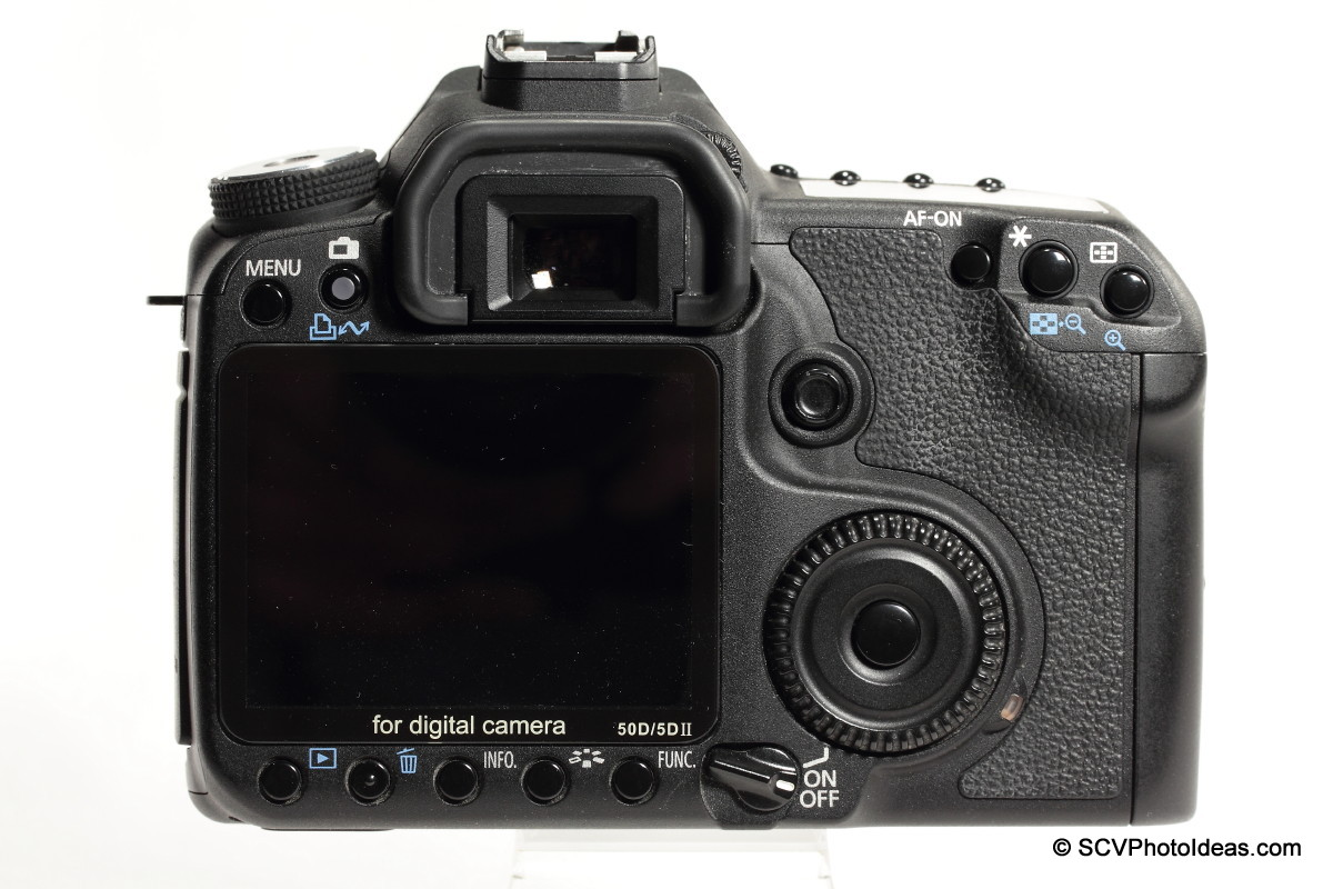 Canon EOS 50D Digital Camera body back