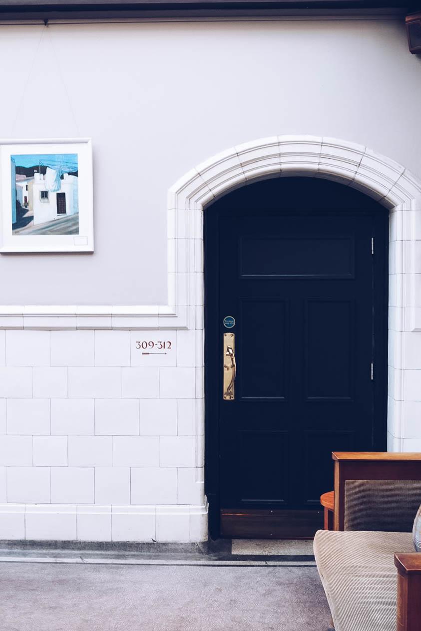 Hallway inside ABode Hotel, Glasgow