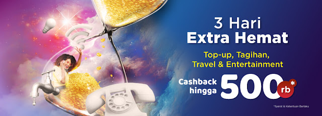#Tokopedia - #Promo #Voucher 3 Hari Extra Hemat Top-up, Tagihan, Travel & Entertainment (s.d 18 April 2019)