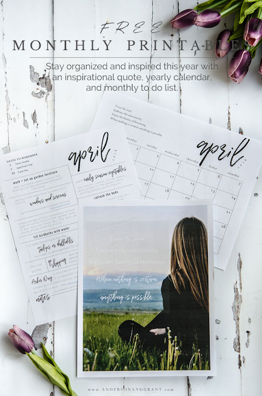 Free Printables for April