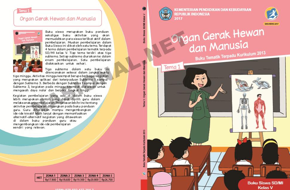 Buku K13 SD Kelas 5 Revisi Tahun 2017 Semester I