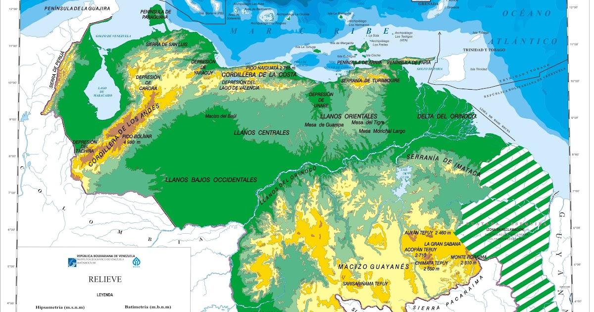 Geograf 237 A Econ 243 Mica De Venezuela Mapa F 237 Sico De Venezuela