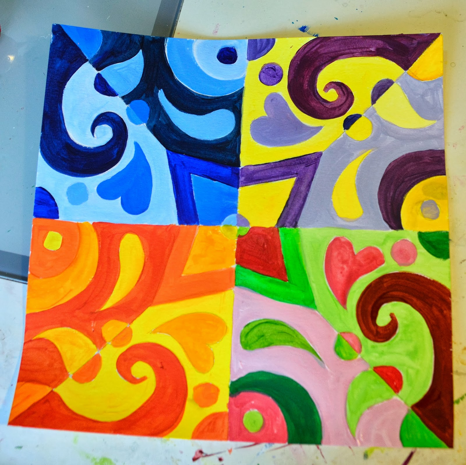 Nessa Dee Crafty Friday Color Theory Abstracts