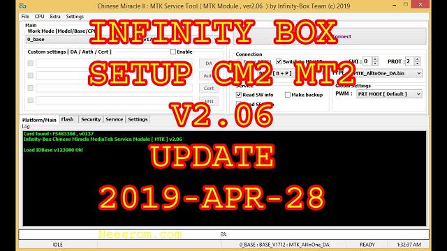 Download Infinity box MTK CM2 MT2 v2.06 Latest Version 2019