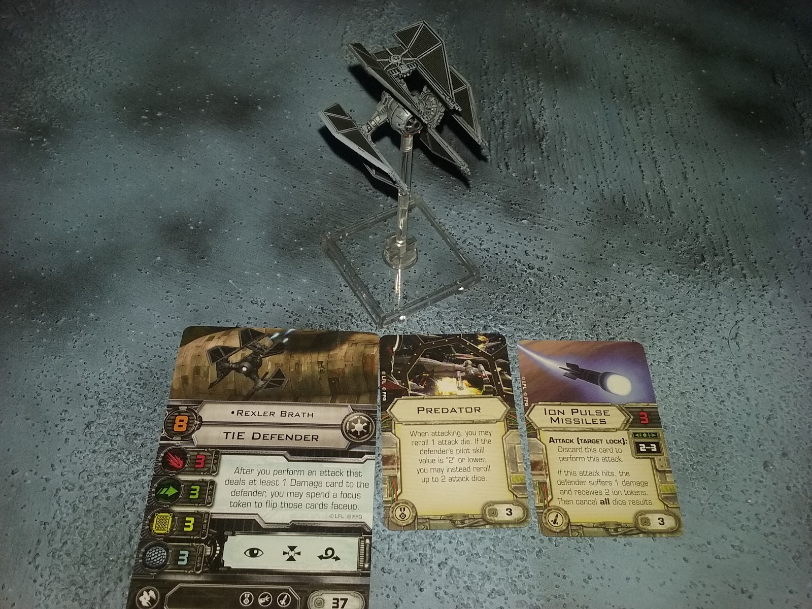Star Wars TIE Defender Ship build for X-Wing miniatures game