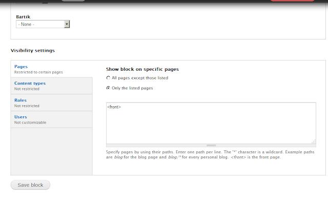 mengatur slider supaya hanya tampil pada halaman depan saja