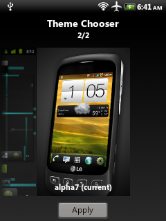 Theme Choose - Alpha7, HTC theme For Galaxy Mini