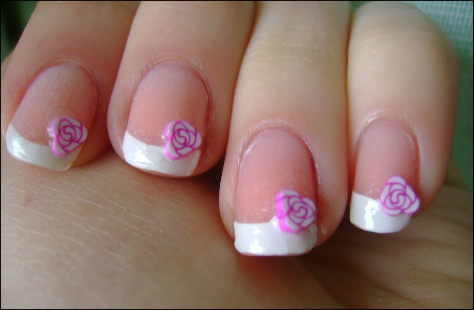 acrylic nail art designs: Incoco french manicure with nail ...