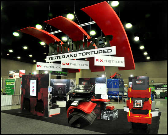 Minimizer booth at the 2019 Mid-America Trucking Show