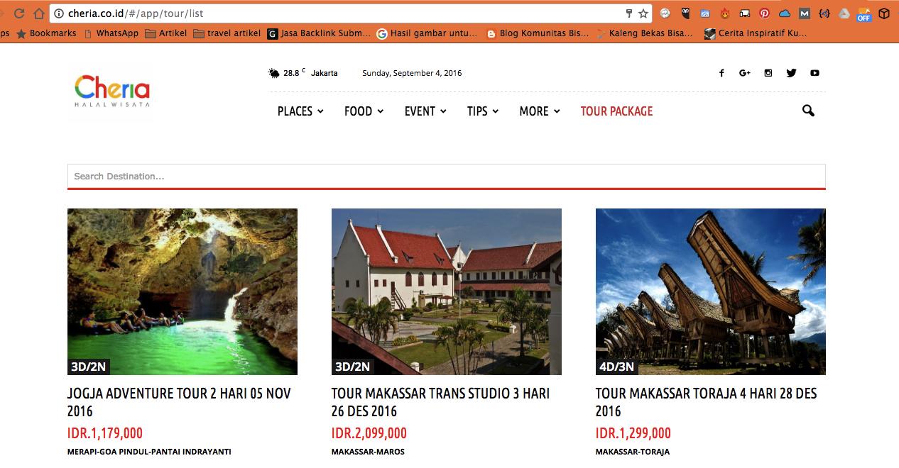 Paket Wisata Halal Indonesia Yang Lengkap Ada Di Cheria