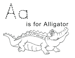 Aa Is Aligator Coloring Sheet For Kids