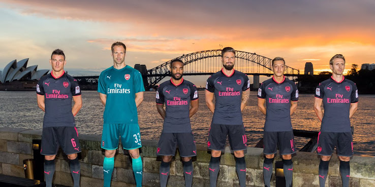 The Arsenal 2017-18 third shirt is part of Puma s Exit the shadows kit  collection 29511942e