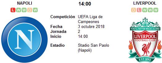 Napoli vs Liverpool en VIVO